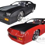1985 Chevrolet Camaro IROC-Z Matt Black & Red 2 Cars Set 1/24 Diecast Model Cars by Jada