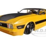 1973 Ford Mustang Mach 1 Yellow 1/24 Diecast Car Model by Jada