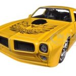 1972 Pontiac Firebird Trans Am Yellow 1/24 Diecast Car Model Jada