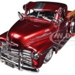 1951 Chevrolet Pickup Truck Lowrider Red 1/24 Diecast Model by Jada