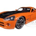 2008 Dodge Viper SRT10 Orange 1/24 Diecast Car Model by Jada