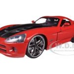 2008 Dodge Viper SRT10 Red 1/24 Diecast Car Model by Jada