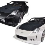 2003 Nissan 350Z White & Black 2 Cars Set 1/24 Diecast Car Models by Jada