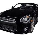 2009 Nissan GT-R R35 Black 1/24 Diecast Car Model by Jada