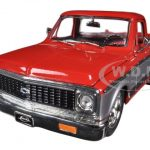 1972 Chevrolet Cheyenne Pickup Truck Red / Silver 1/24 Diecast Model by Jada