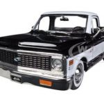 1972 Chevrolet Cheyenne Pickup Truck Black 1/24 Diecast Car Model by Jada