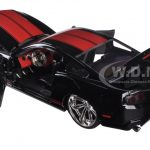 2010 Ford Mustang GT Black With Red Stripes 1/24 Diecast Model Car by Jada