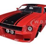 1965 Ford Mustang Red With Black Stripes 1/24 Diecast Car Model by Jada