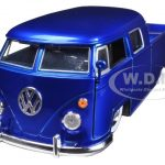1963 Volkswagen Bus Pickup Blue 1/24 Diecast Model Car by Jada