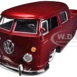 1963 Volkswagen Bus Pickup Red 1/24 Diecast Model Car by Jada