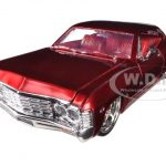 1967 Chevrolet Impala SS Red 1/24 Diecast Car Model by Jada