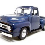 1953 Ford F-100 Pickup Dark Blue 1/18 Diecast Model Car by Road Signature