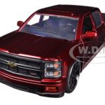2014 Chevrolet Silverado Pickup Truck Red Custom Edition 1/24 Diecast Model by Jada