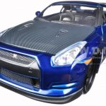 Brians 2009 Nissan GTR R35 Blue Fast & Furious 7 Movie 1/24 Diecast Model Car by Jada
