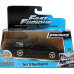 Doms 1970 Dodge Charger R/T Black Fast & Furious 7 Movie 1/32 Diecast Model Car by Jada