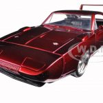 1969 Dodge Charger Daytona Red Fast & Furious 7 Movie 1/24 Diecast Model Car by Jada