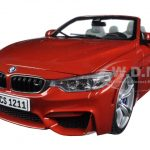 BMW M4 Cabrio Orange 1/18 Diecast Model Car by Paragon