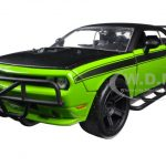 Lettys Dodge Challenger Off Road Green Fast & Furious Movie 1/24 Diecast Model Car by Jada