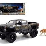 2014 Chevrolet Silverado Pickup Truck with Dog Realtree (TV Series) 1/24 Diecast Model by Jada