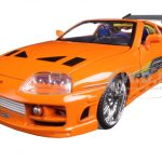 Brians Toyota Supra Orange Fast & Furious Movie 1/24 Diecast Model Car by Jada