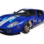 Ford GT Fast & Furious 7 Movie Blue 1/24 Diecast Model Car by Jada