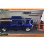 2014 Chevrolet Silverado Pickup Truck Blue Just Trucks with Extra Wheels 1/24 Diecast Model by Jada