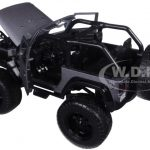 2007 Jeep Wrangler Just Trucks with Extra Wheels Matt Grey 1/24 Diecast Model Car by Jada