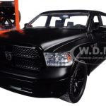 2014 Dodge Ram 1500 Pickup Truck Matt Black Just Trucks with Extra Wheels 1/24 Diecast Model by Jada