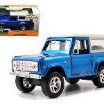 1973 Ford Bronco Blue 1/32 Diecast Model Car by Jada