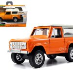 1973 Ford Bronco Orange 1/32 Diecast Model Car by Jada