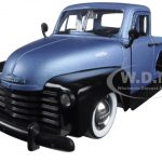 1953 Chevrolet Pickup Truck Blue/Black Just Trucks with Extra Wheels 1/24 Diecast Model by Jada
