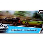 Doms 1970 Dodge Charger R/T Off Road and Lettys Dodge Challenger SRT8 Fast & Furious 7 Movie Set of 2 Cars 1/32 Diecast Model Cars by Jada