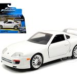 Brians Toyota Supra White Fast & Furious 7 Movie 1/32 Diecast Model Car by Jada