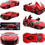 Lykan Hypersport Red Fast & Furious 7 Movie 1/18 Diecast Model Car by Jada