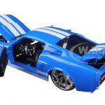 1967 Ford Shelby Mustang GT-500 Blue with White Stripes 1/24 Diecast Model Car by Jada