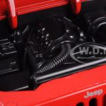 2007 Jeep Wrangler Red Off Road 1/24 Diecast Model Car by Jada