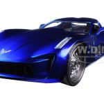 2009 Chevrolet Corvette Stingray Concept Blue 1/24 Diecast Model Car by Jada