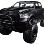 2014 Dodge Ram 1500 Matt Black Pickup Truck Off Road Just Trucks 1/24 Diecast Model by Jada