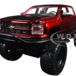 2014 Chevrolet Silverado Pickup Truck Off Road Red/Black 1/24 Diecast Model by Jada