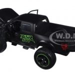 2011 Ford F-150 SVT Raptor Matt Black/Green Pickup Truck Off Road 1/24 Diecast Model by Jada