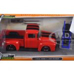 1956 Ford F-100 Red Pickup Truck Just Trucks with Extra Wheels 1/24 Diecast Model by Jada