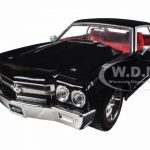 1970 Chevrolet Chevelle SS Black 1/24 Diecast Model Car by Jada
