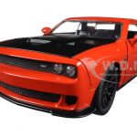 2015 Dodge Challenger SRT Hellcat Orange 1/24 Diecast Model Car by Jada