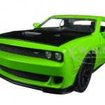 2015 Dodge Challenger SRT Hellcat Green 1/24 Diecast Model Car by Jada