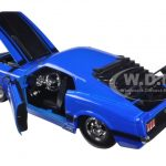 1970 Ford Mustang Boss 429 Blue 1/24 Diecast Model Car by Jada