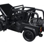 1992 Jeep Wrangler Black 1/24 Diecast Model Car by Jada