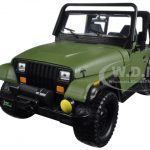 1992 Jeep Wrangler Matt Green 1/24 Diecast Model Car by Jada