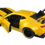 2016 Chevrolet Camaro SS Wide Body with GT Wing Metallic Yellow With Black Stripes 1/24 Diecast Model Car  by Jada
