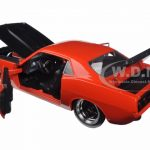 1973 Plymouth Barracuda Orange with Matt Black 1/24 Diecast Model Car by Jada