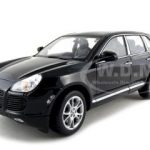 Porsche Cayenne Turbo Black 1/18 Diecast Car Model by Welly